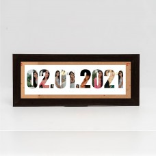 Name & Date of Birth Frame(radium frame with 10 images)